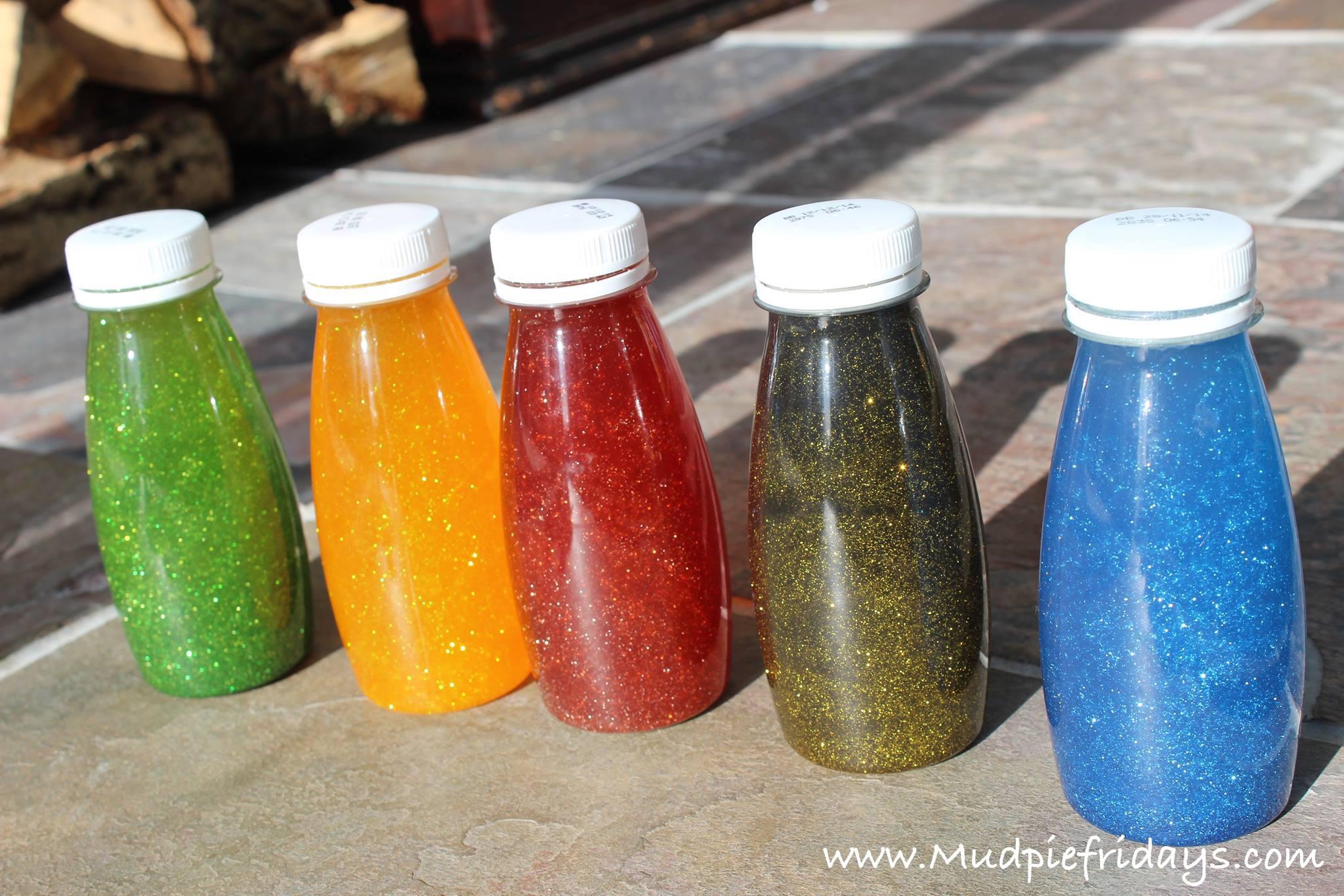 DIY Sensory Rainbow & Glitter Bottles