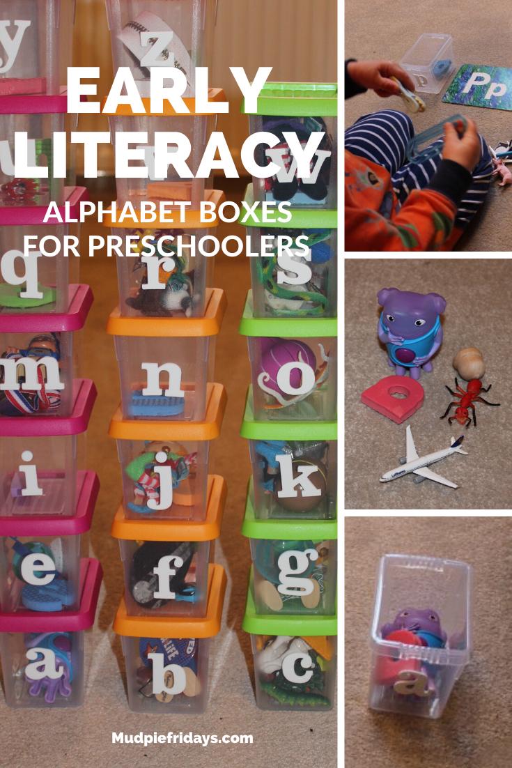 Alphabet Boxes for Preschoolers