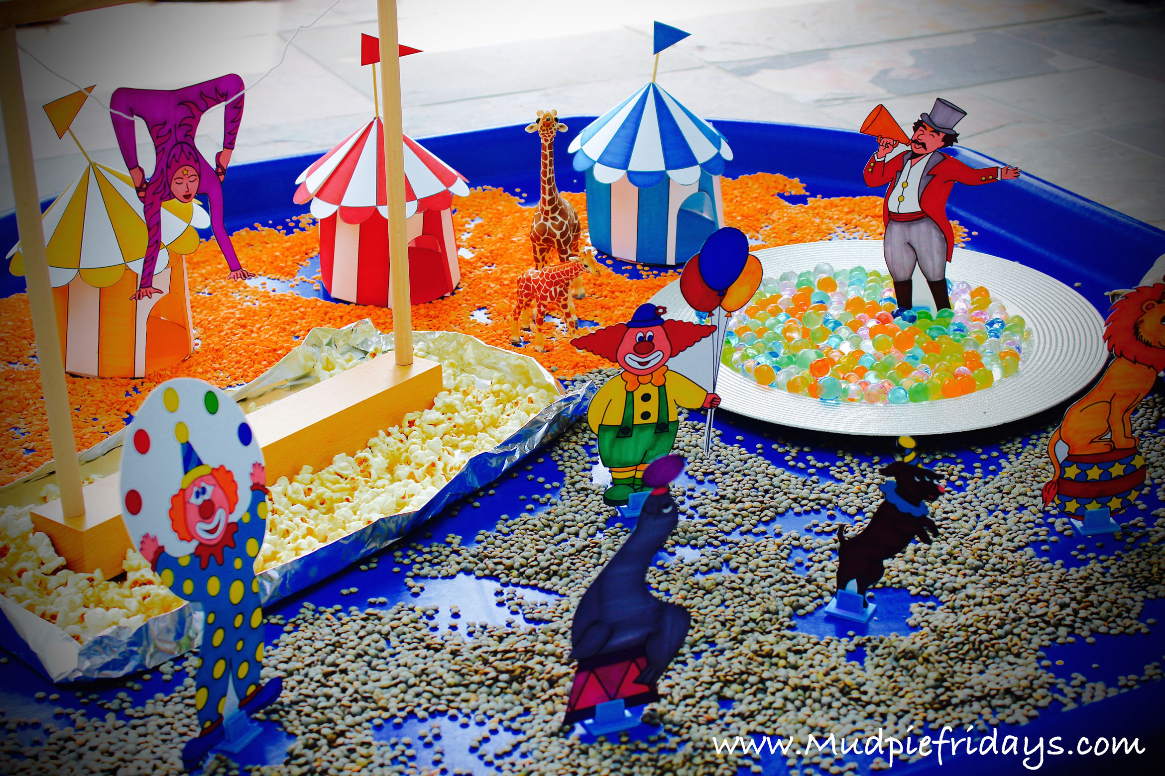 Circus Small World Play for preschoolers