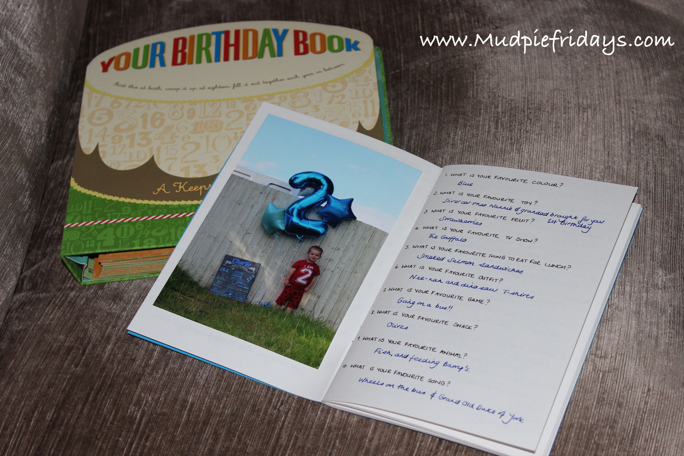 Childrens Birthday Questionnaire