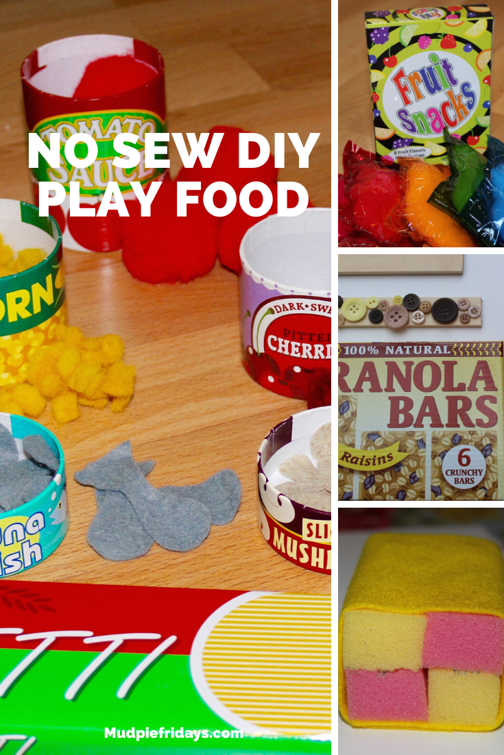 No Sew DIY Play Food