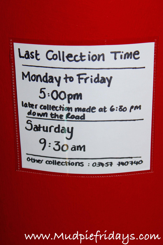 DIY Postbox notice - preschooler roleplay
