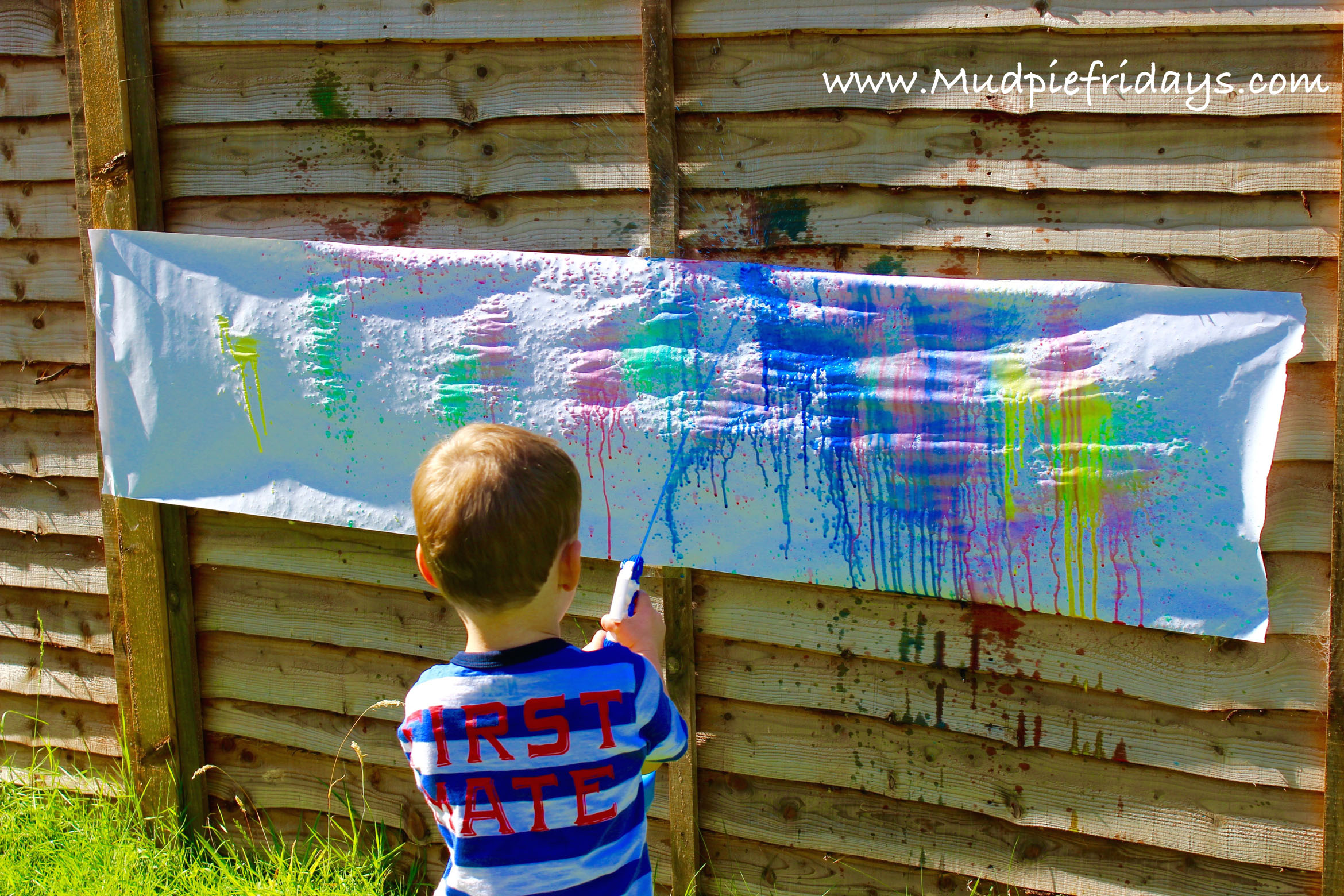 Spray Painting with Preschoolers