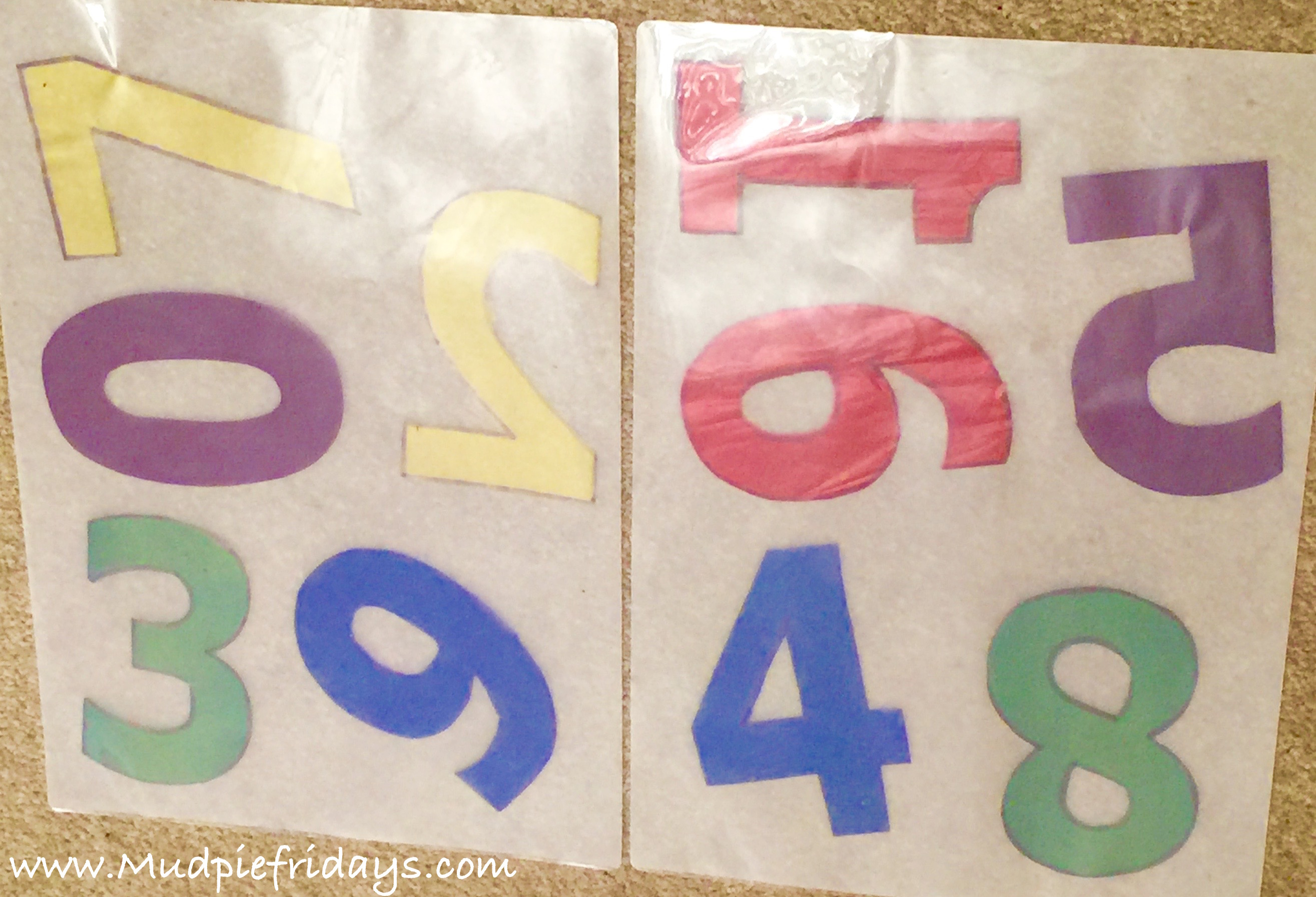 DIY Light table numbers