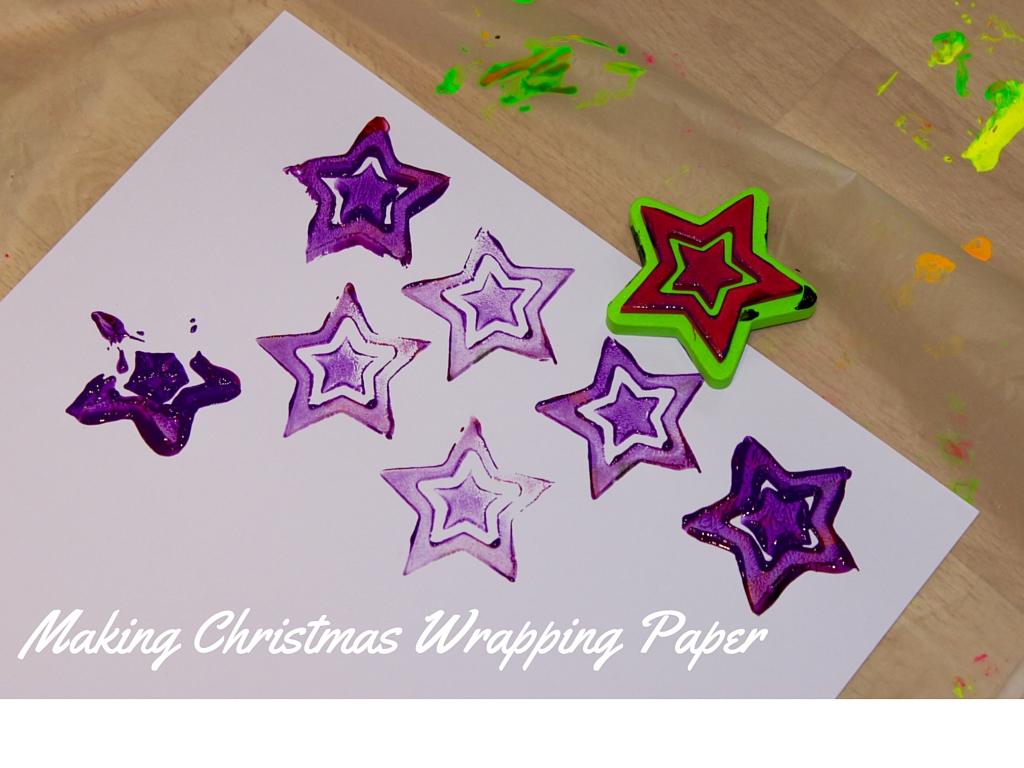 Making Christmas Wrapping Paper