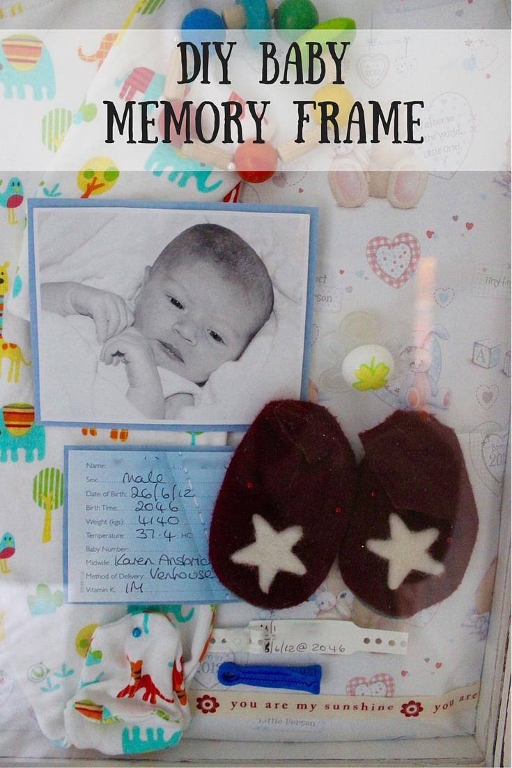 Diy Baby Memory Frame Mudpiefridayscom