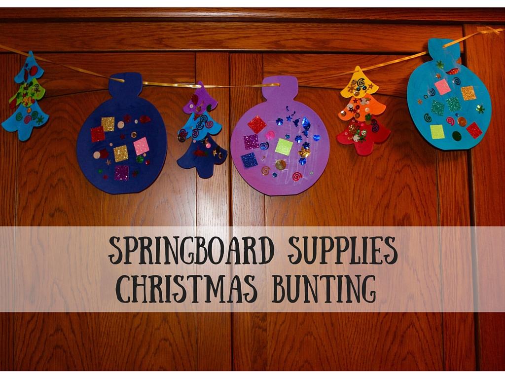 Springboard Supplies Christmas Bunting Mudpiefridays Com