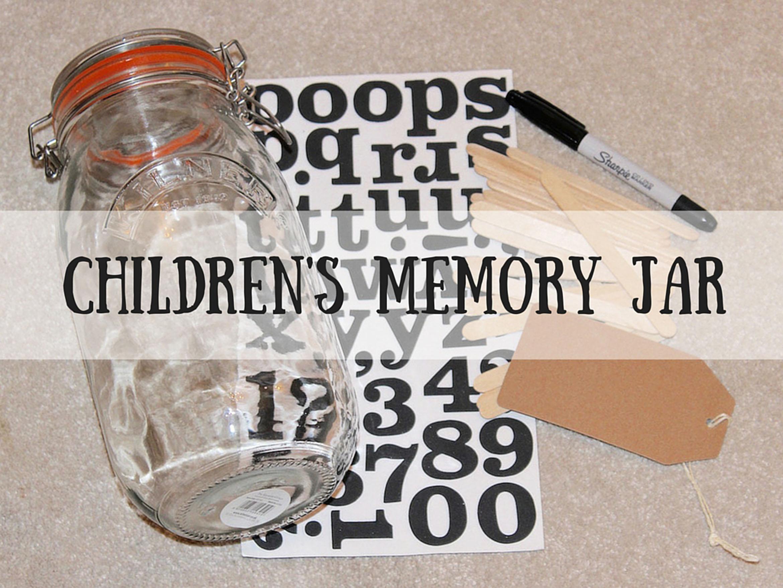 Children's Memory Jar