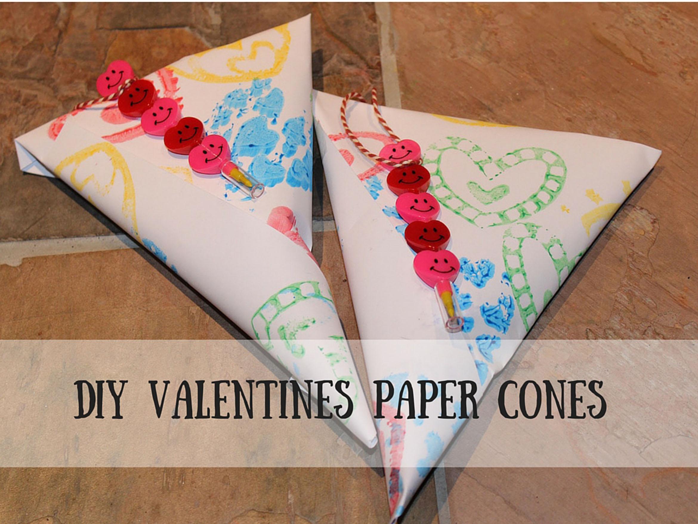 DIY Valentines Paper Cones