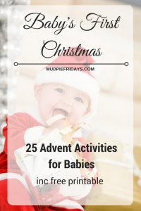 25 Advent Activities for babies
