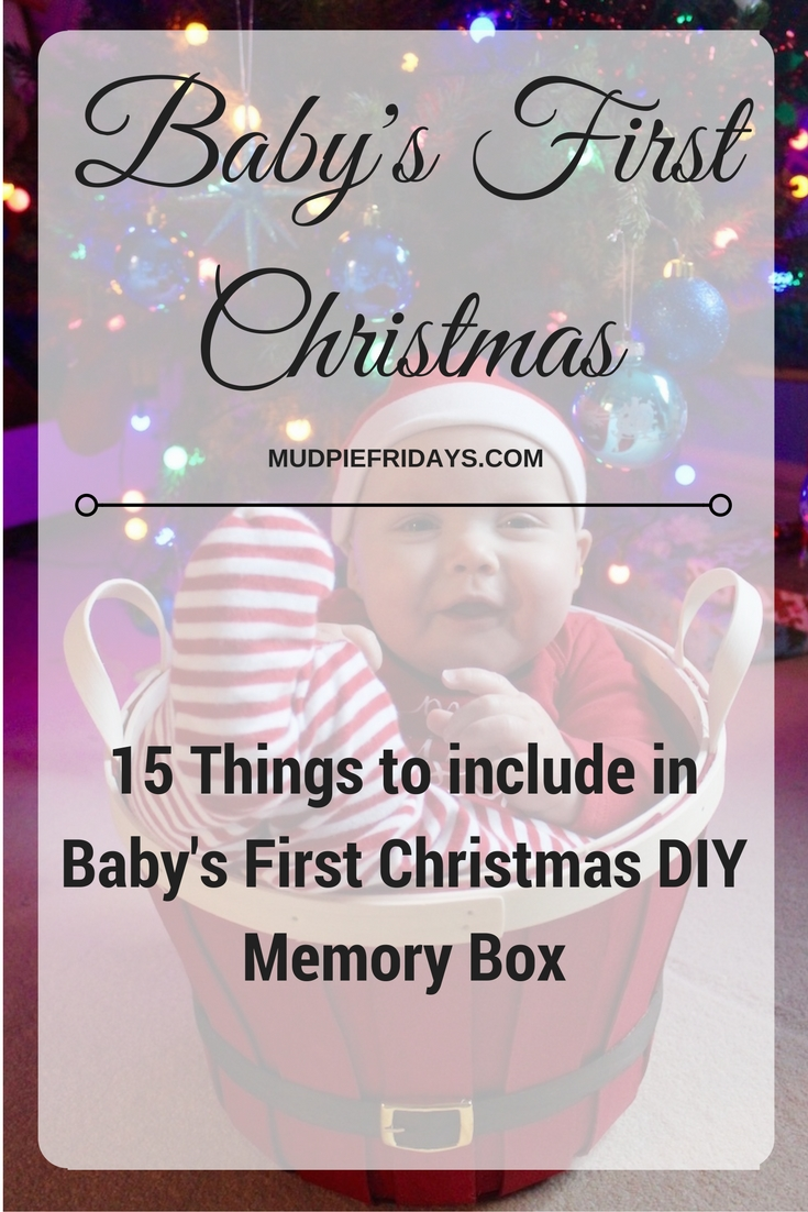Babys First Christmas Memory Box