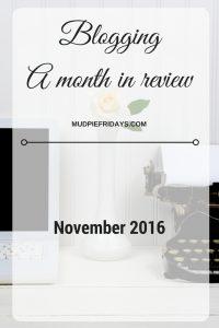 Nov Blogging Recap
