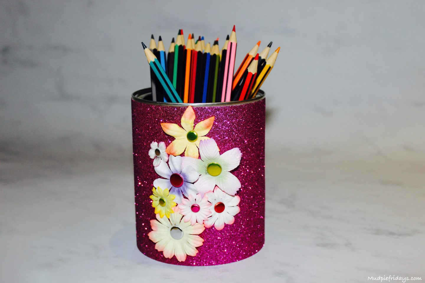 Diy flower pencil holder Diy pencil holder for desk