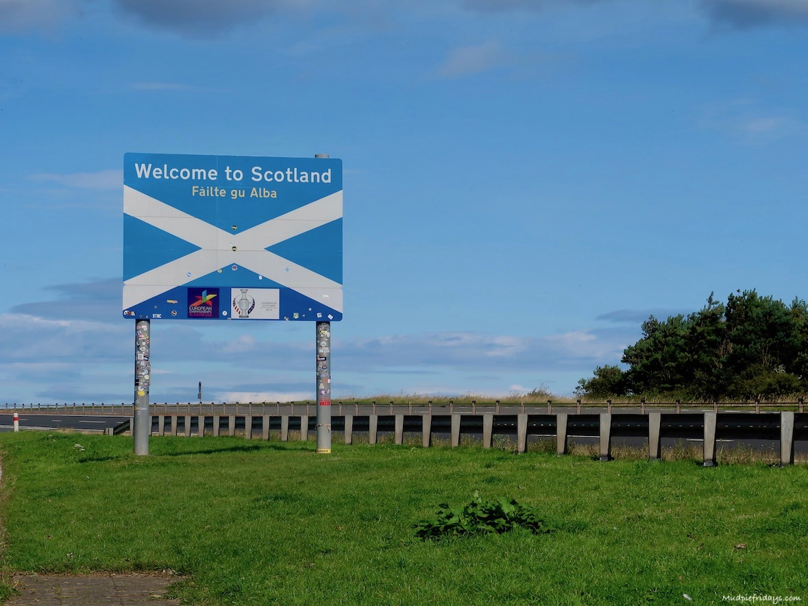 the Scottish boarder on the A1