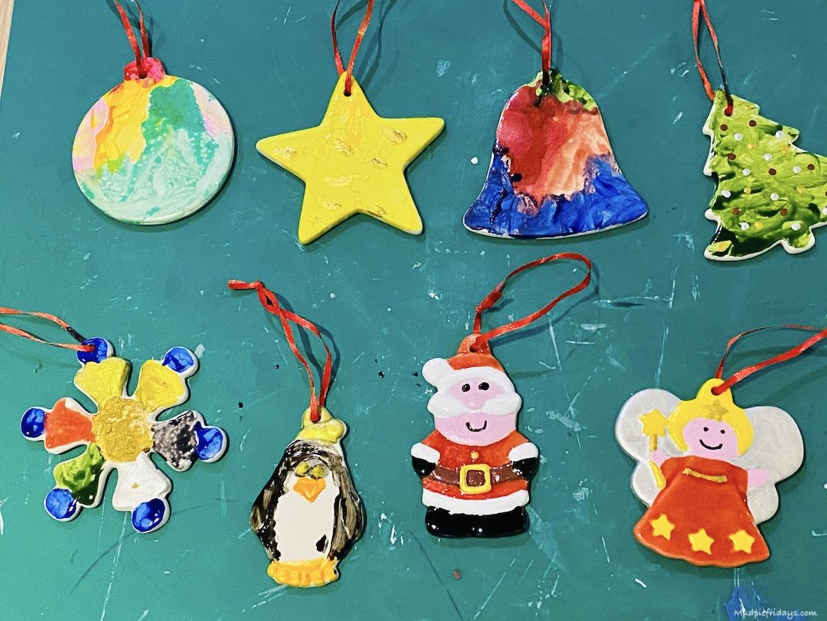 DIY Ceramic Christmas Decorations