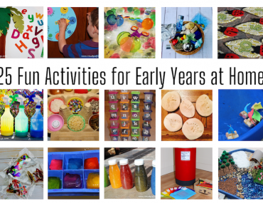 25 Fun activities for early years at home