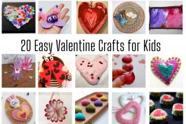 20 Easy Valentine Crafts for Kids